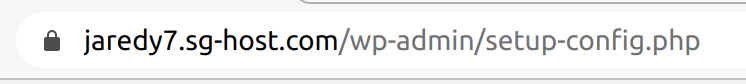 SSL indicator next to website address using Chrome